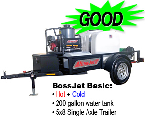 BossJet Hot Basic Trailer Jetter